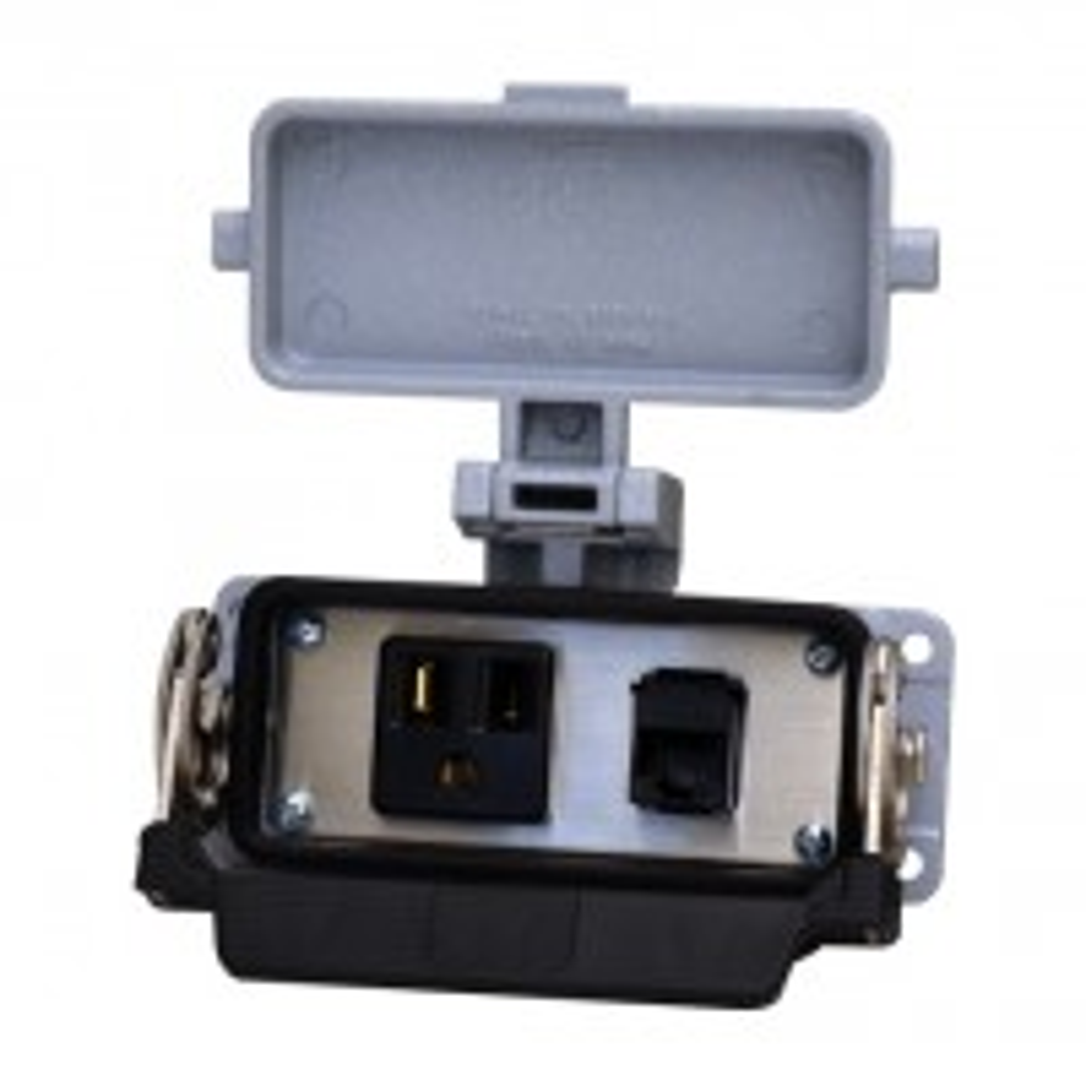 WAGO 8000-0100/1000-0354 Bulkhead interface panel, 1x simplex, and 1x RJ45, 4.5 x 1.8 in