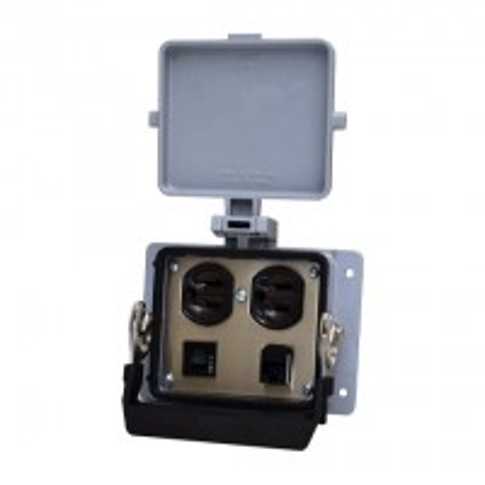 WAGO 8000-0100/1000-0359 Bulkhead interface panel, 1x Duplex, 1x RJ45, 3 A circuit breaker, 5.0 x 3.6 in